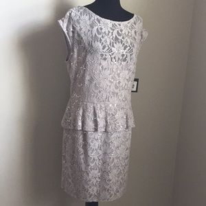 Marina Gray Lace Dress